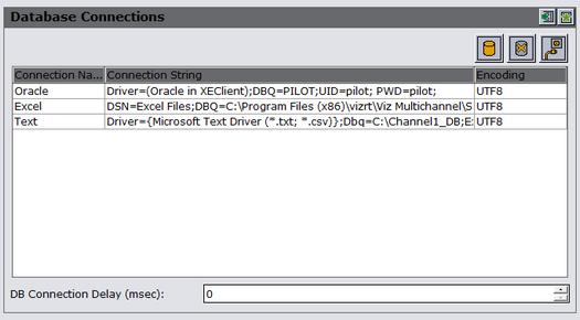 Create Database Connections - Viz Multichannel User's Guide