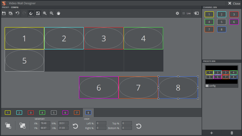Combine video walls - Viz Multiplay