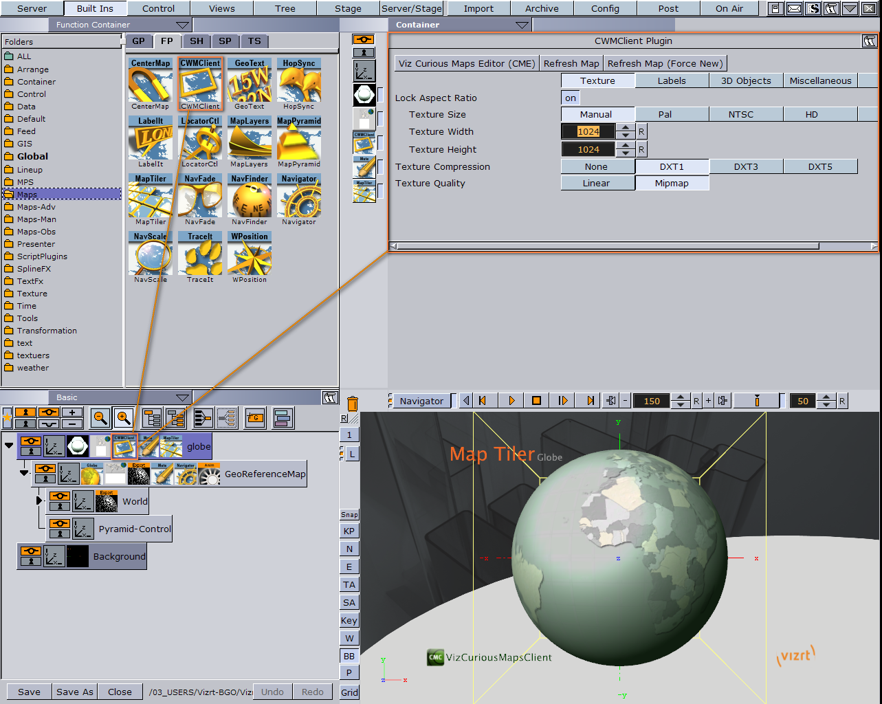 Using the Map Editor - Viz World User's Guide - Vizrt
