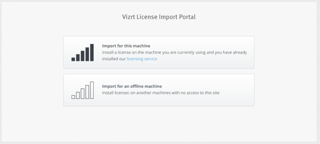 Online License Activation - Viz Licensing
