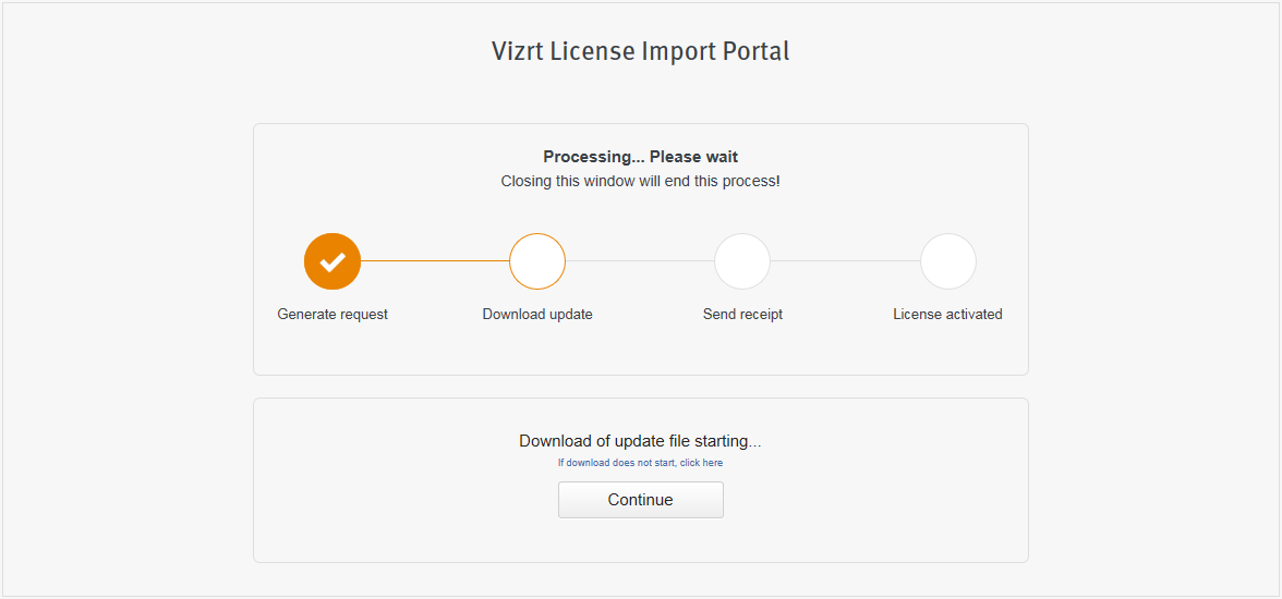 Offline License Activation - Viz Licensing